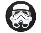 Star Wars Storm Trooper Mask Embroidered Big Back Vest Patch 8""