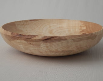 Wooden Fruit/Salad Bowl Ash Feathered Crotch Hand Turned