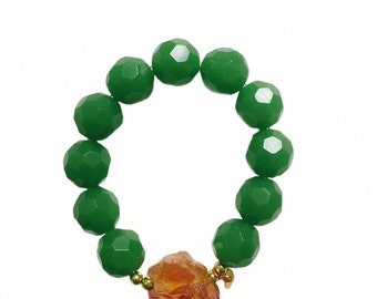 Green Statement Bracelent