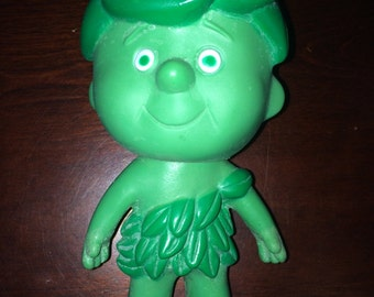 Vintage 1970's JOLLY GREEN GIANT Little Sprout Plastic Vegetable Doll Action Figure Gg Co.