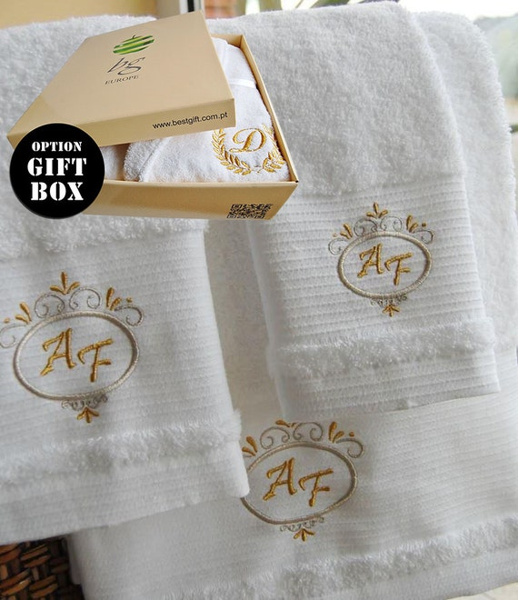 Personalised Wedding Gifts Towels : Personalized Bath Towels - Wedding Gift - Bath sheet, Hand towel ...