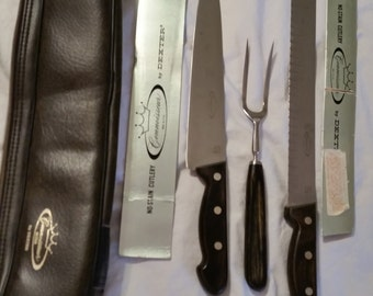 Vintage 3 pc professional Cutlery Knife & Fork set - Connoissear by Dexter