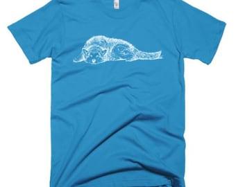 Dog Lover Tee Shirt, Husky Shirt, Wolf Shirt, Animal Lover Shirt, Men's Hipster Animal Tee, Dog Lover Gift, Graphic Tee,