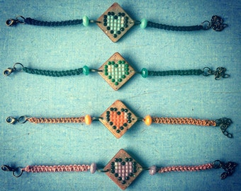 Pixel Heart bracelet