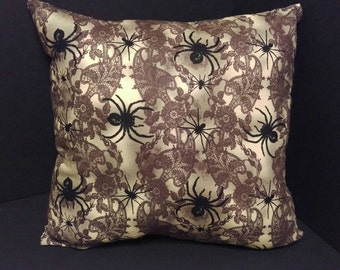 Lace and Spider Pattern Halloween Pillows