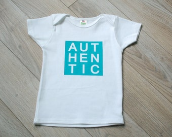 Gender Neutral Modern Organic Infant & Toddler T-shirt - Authentic - Printed with Water Based Ink