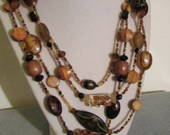No. 243 African Designed Beaded Necklace