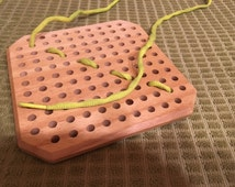 Wooden Sewing Toy - Learn to Sew Without Sharp Needles
