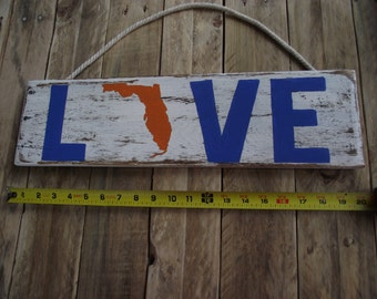 Florida Gators sign | University of Florida sign| Rustic Gators sign| Florida Gators wood sign|  Custom state sports sign