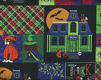 MLiss Happy Halloween Patch Fabric Cotton Home Decor