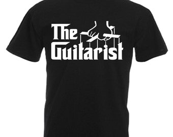 Guitarist Mens Adults Black T Shirt Sizes From Small - 3XL
