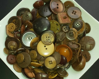 Lot of various Brown colors more than 300 grams vintage buttons
