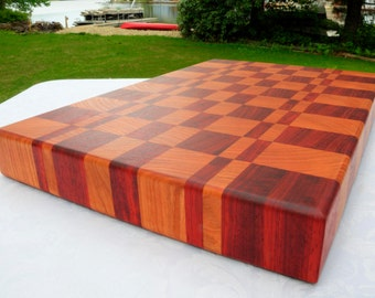 End Grain Cutting Cherry and Padouk