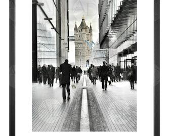 Tower Bridge, Movement, People, Walk, Path, London UK, Photography, Picture