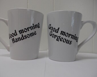 Personalized Wedding Day gift Valentines Day Gift for him and her vinyl decal on mugs