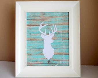 Deer Nursery Decor, Woodland Nursery Decor, Deer Wall Decor, Deer Art, Deer House Decor, Deer Head Decor, Deer PRINT