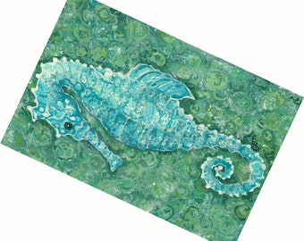 FREE SHIPPING and Reduced!  Seahorse Floor Mat, 31 x 22""