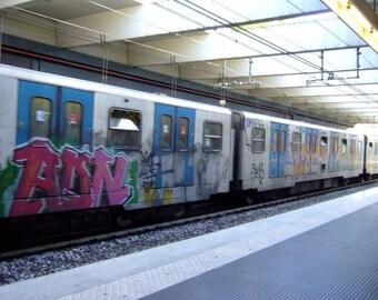 Graffiti on local Tram in Roma