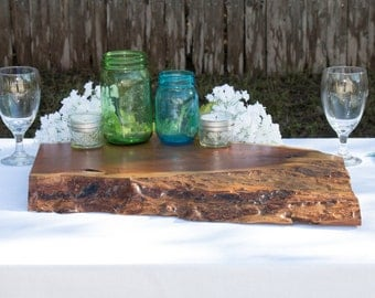 Wood Slab Centerpiece - Mesquite