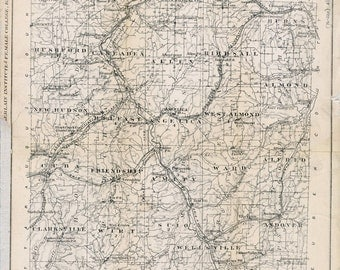 1875 Map of Allegany County New York