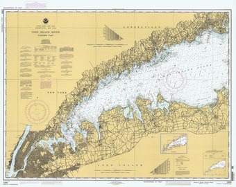 1996 Nautical Map of Long Island Sound Western Part New York