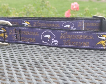 Minnesota Vikings football team inspired dog collar