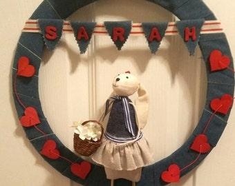 Miss Rabbit Wreath