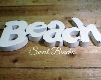 Beach Sign Sea Side Cabana Ocean Nautical Decor