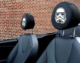 Star Wars Stormtropper Auto SUV Head Rest Covers