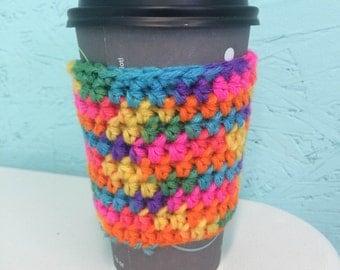 Multi-Colored Coffee Cozie