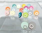 Formica and Sterling Silver Reversible Studs.