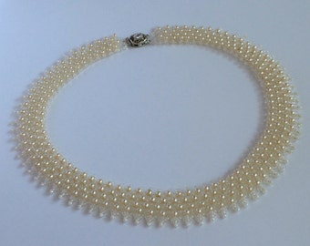 Beads, Venetian Pearls and Glass Necklace