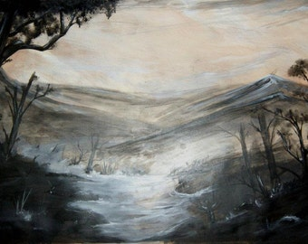 landscape acrylic and oil