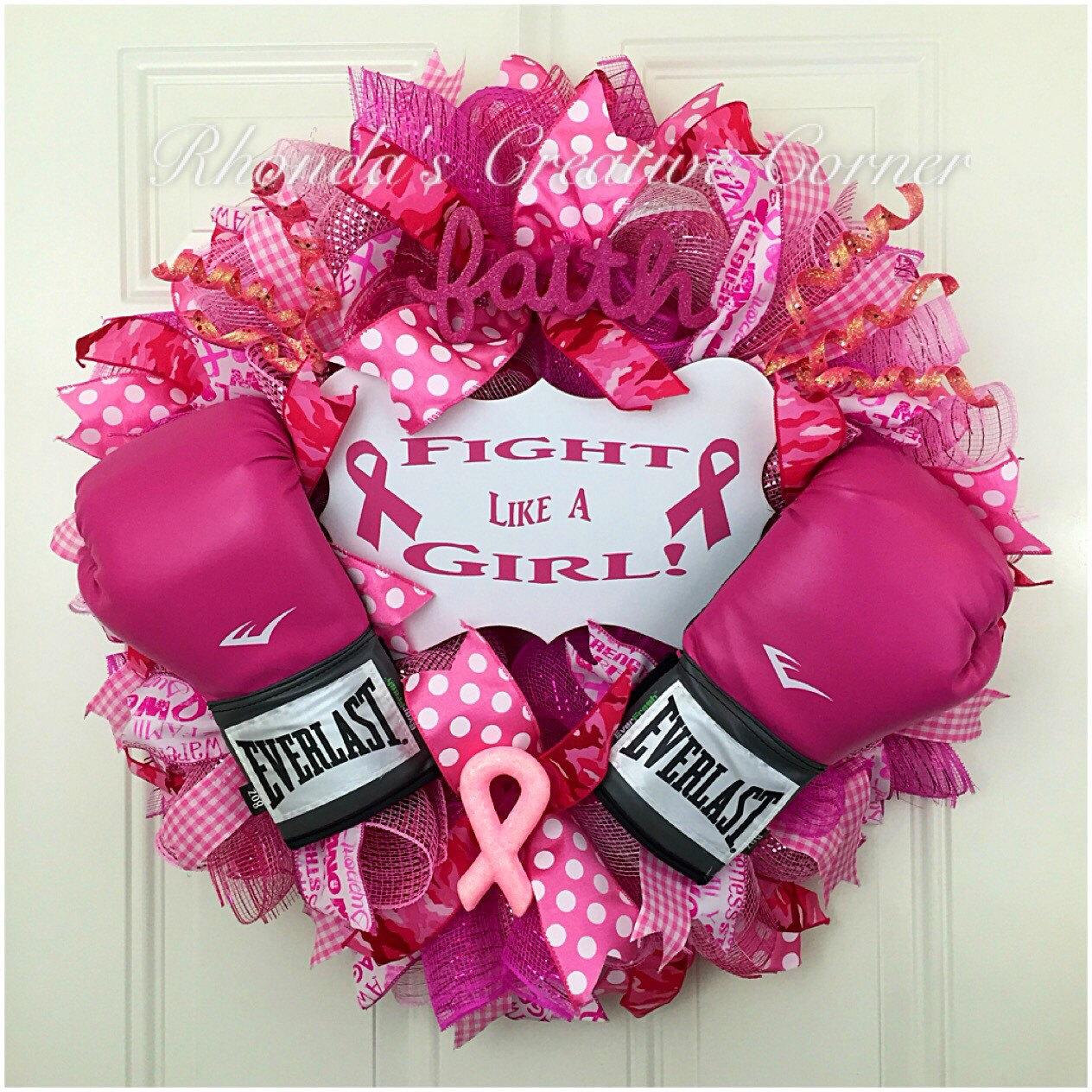 reservered breast cancer awareness deco mesh wreath breast. Black Bedroom Furniture Sets. Home Design Ideas