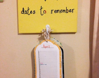 Yearly Important Dates Hanging Wall Calendar