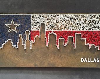 Dallas Skyline String Art