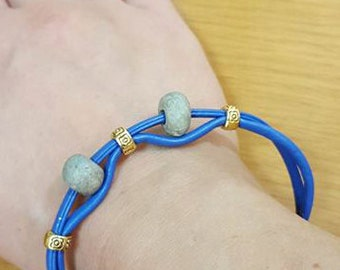 Blue bracelet with stones