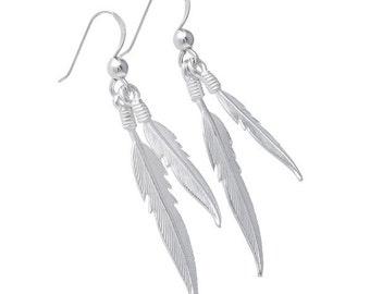 Dual Plume Earrings