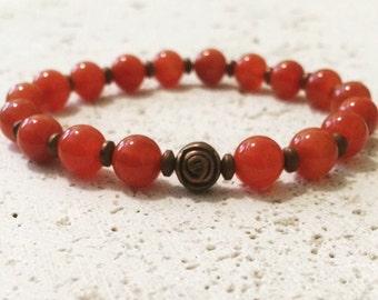 Red Jasper Bracelet,mala red jasper bracelet,red mala bracelet,red yoga bracelet,red boho bracelet,red stone bracelet,red jasper