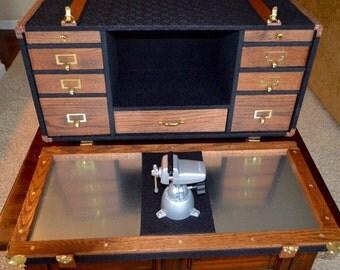 Steamer Trunk Hobby Workstation