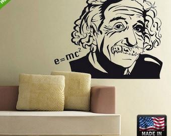 Albert Einstein Wall Decal Einstein Portrait Wall Decal Einstein Sticker for wall Einstein wall sticker Z111
