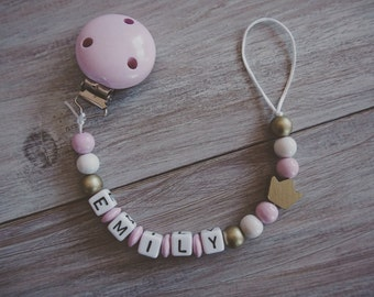 Baby Girl Crown Pacifier Clip