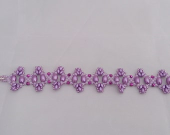 Purple cones with Toggle clasp