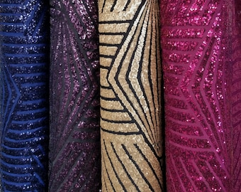 Fancy Sequins on Spandex Fabric Sold by By the Yard [Jennifer Lopez]