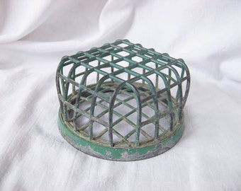 Metal Cage Flower Frog, LA Daisy MFG Co. Large Display Size