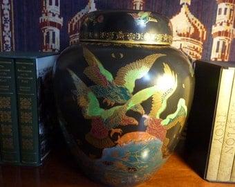 A rare and fantastic, Art Deco period, ceramic ginger jar.