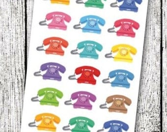 Telephone Planner Stickers