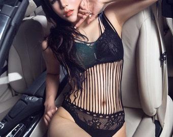 New Women Lingerie Babydoll Girls Intimate Fishnet Bodystocking Dress