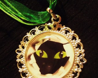 "Necklace ""Cuckoo cat"""