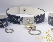 BDSM Play Collar & Cuffs Set